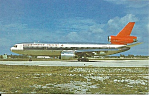 Northwest Orient Dc-10-40 N144us Postcard P36211