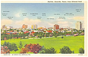 Skyline Amarillo Texas Postcard (Image1)