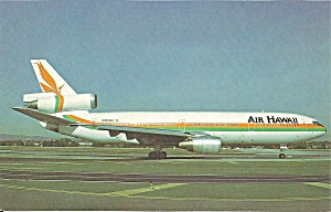 Air Hawaii Dc-10-10 N905wa Postcard P36226