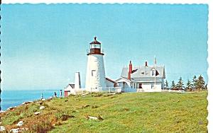 Pemaquid Point ME Lighthouse postcard p36237 (Image1)