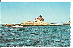 Boothbay Harbor Me Cuckold S Light Postcard P36239