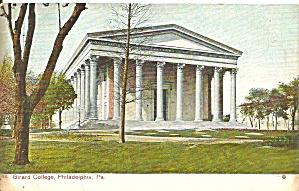 Philadelphia PA Girard College postcard p36256 (Image1)