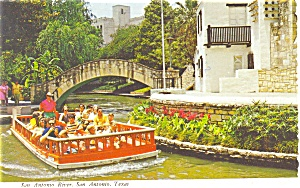 San Antonio Texas River  Postcard (Image1)