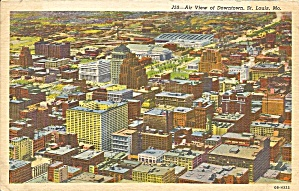 St Louis MO Downtown Aerial View postcard p36266 (Image1)