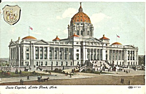 Little Rock AR State Capitol 1908 postcard p36279 (Image1)