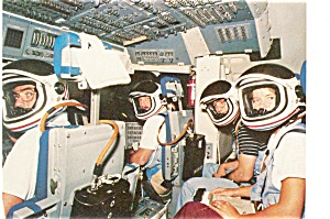 NASA STS-7 Crew Training  Postcard p3627 (Image1)