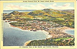 Acadia National Park ME Mt Desert Island postcard p36296 (Image1)