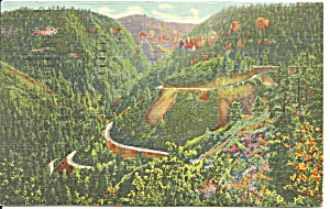 Oak Creek Canyon Az Cliffs 1951 Postcard P36309