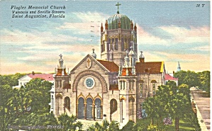 St Augustine FL Flagler Memorial Church  postcard p36325 (Image1)
