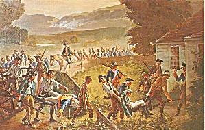 Battle Bennington Postcard Painting Ray Williams p36336 (Image1)
