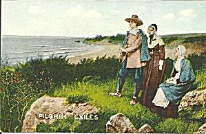 Pilgrim Exiles MA  Divided Back Postcard p36341 (Image1)