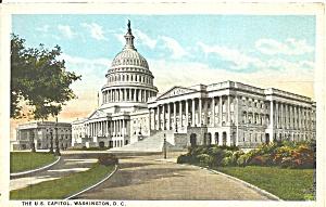 Washington DC US Capitol Bldg postcard p36349 (Image1)