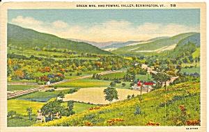 Bennington VT Pownal Valley Green Mountains 1955 p36363 (Image1)