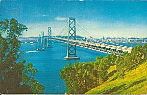 San Francisco Oakland Bay Bridge Postcard P36365