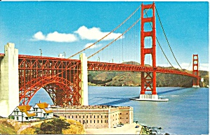 San Francisco Golden Gate Bridge Postcard P36366