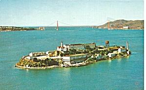 San Francisco Bay Alcatraz Island postcard p36367 (Image1)