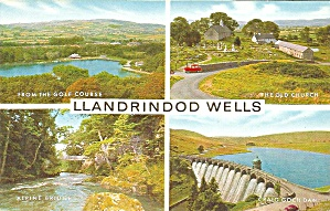 Llandrindod Wells Wales UK Four Views postcard p36375 (Image1)