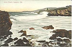 Laguna CA  Arch Beach postcard p36406 (Image1)