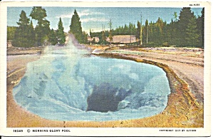 Yellowstone National Park WY Glory Pool postcard p36419 (Image1)