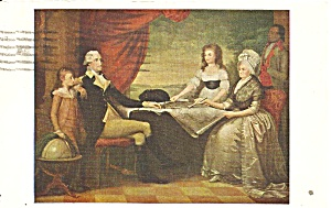 Portrait Washington Family From Painting By Savage P36420