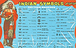 Indian Symbols And Their Meaning Postcard P36427