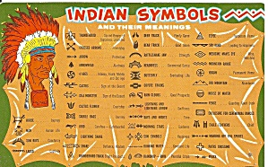Indian Symbols And Their Meaning Postcard P36429