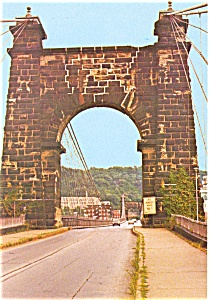 Wheeling West Virginia Bridge Postcard p3642 (Image1)