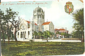 St Augustine Flagler Memorial Church Postcard P36470