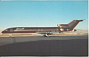 Braniff International 727-227 N477bn In Burgundy P36476