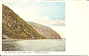 Hudson River NY Old Crow Nest Storm King postcard p36493 (Image1)