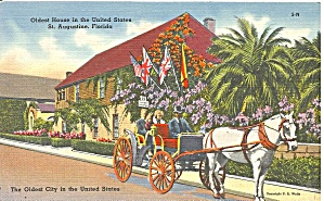 St Augustine FL Oldest House in US postcard p36498 (Image1)