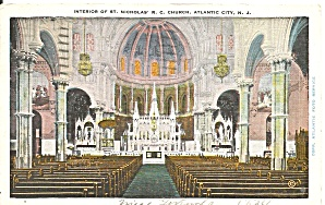 Atlantic City Nj Interior St Nicholas Rc Church 1934 P36540