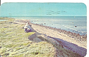 Montauk LI NY Cliffs postcard p36543 (Image1)