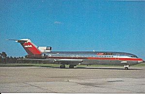 Usair 727-227 N782al Postcard P36550
