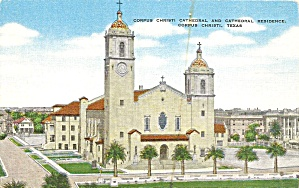 Corpus Christ Tx Cathedral 1947 Postcard P36571