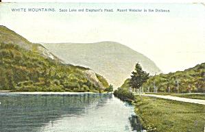 White Mts NH Saco Lake Raphael Tuck postcard p36615 (Image1)