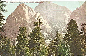 Kings River Canyon Ca South Fork Postcard P36620