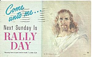 Sunday School Rally Day 1960 postcard p36628 (Image1)
