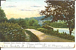 Omaha Ne Riverview Park 1907 Postcard P36630