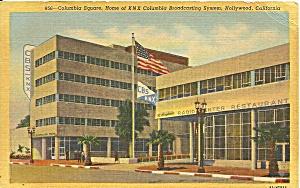 Hollywood CA Columbia Square postcard p36639 (Image1)