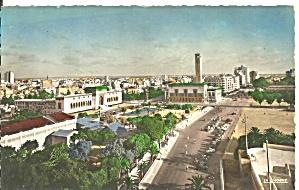 Casablanca Morocco Aerial View postcard p36641 (Image1)