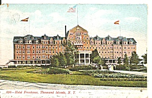 Thousand Islands Ny Hotel Frontenac 1908 Postcard P36644