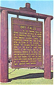 Dry Falls Washington  Postcard (Image1)