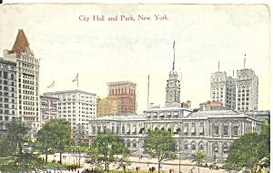 New York City City Hall and Park postcard p36656 (Image1)