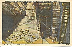 Rutland VT Underground Marble Quarries1954 postcard p36666 (Image1)