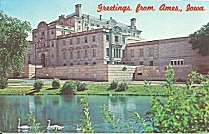 Ames Ia Memorial Union Ia State U Postcard P36681