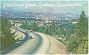 Skyline Spokane Washington  Postcard p3668 (Image1)
