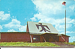 Anadarko OK The Lodge Indian City postcard p36693 (Image1)