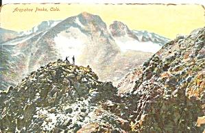 Arapahoe Peaks Colorado postcard p36698 (Image1)