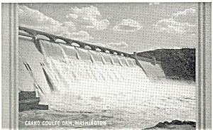 Grand Coulee Dam Washington  Postcard p3669 (Image1)